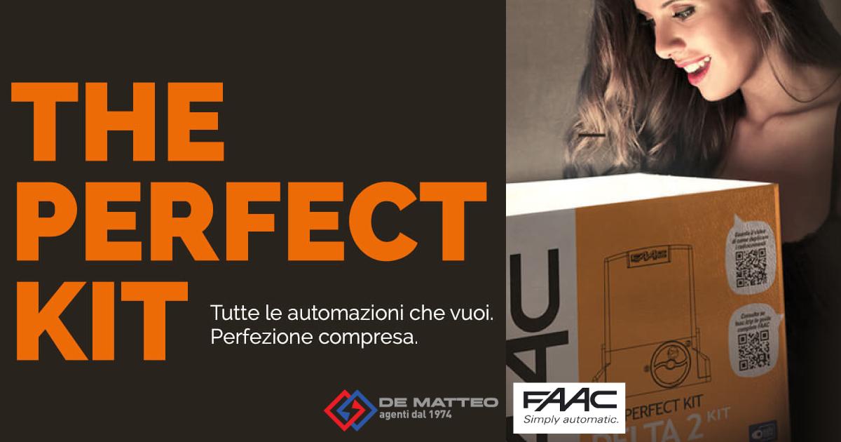 Cancelli scorrevoli: ecco il Perfect Kit FAAC