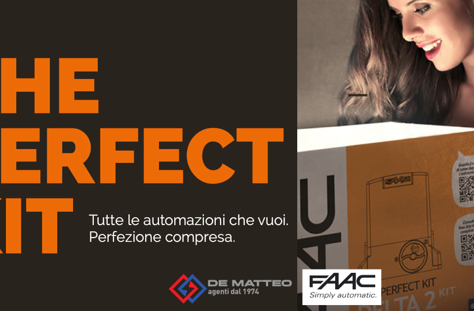 Cancelli scorrevoli: ecco il Perfect Kit FAAC